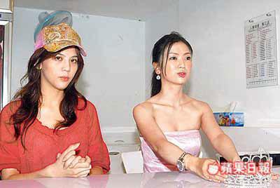 翁舒帆(左)、陈映彤昨指控遭人以简讯恐吓,精神饱受骚扰