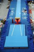 图文:国家体育馆装扮一新 迎接比赛