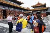 图文:中外媒体探访历代帝王庙 皇家古建筑群