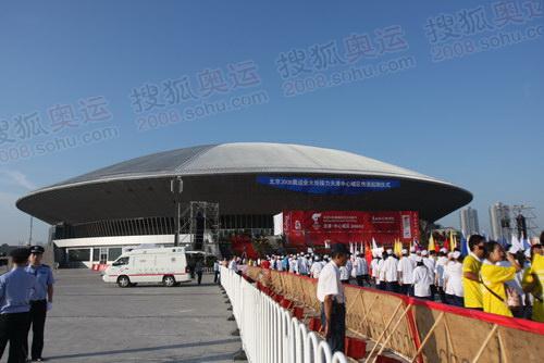 天津奥林匹克体育中心的体育馆