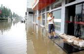 """组图:受""""凤凰""""外围影响南京暴雨成灾"""