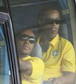 图文:巴西国奥队抵达沈阳 小罗和安德森