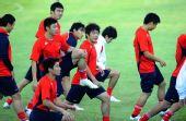 图文:中国国奥队在沈阳备战 众志成城
