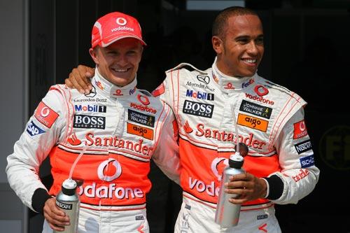 排位 图文/图文:[F1]匈牙利站排位迈凯轮双星笑容灿烂