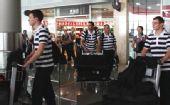 图文:德国跳水队低调抵京 刚出国内到达出口