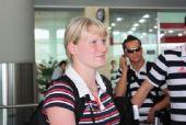 图文:德国跳水队低调抵京 平安抵达北京