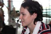 图文:德国跳水队低调抵京 跳水队美女队员
