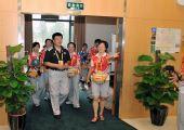 图文:首都体育馆开放仪式 参观文字记者工作间