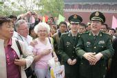 图文:北京奥运安保掠影 领导在市内检查工作