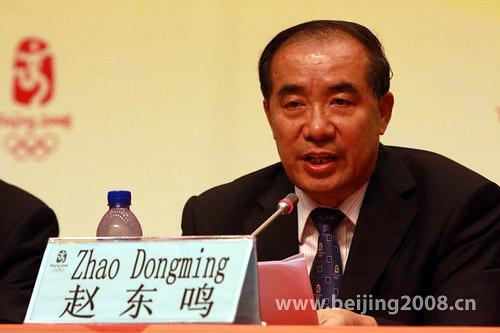 北京奥组委新闻宣传部部长赵东鸣 李威摄