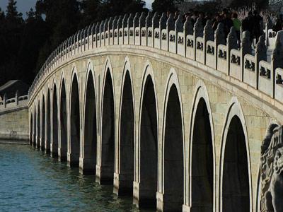 北京石狮子最多的桥:颐和园十七孔桥共544个,比卢沟桥多59个