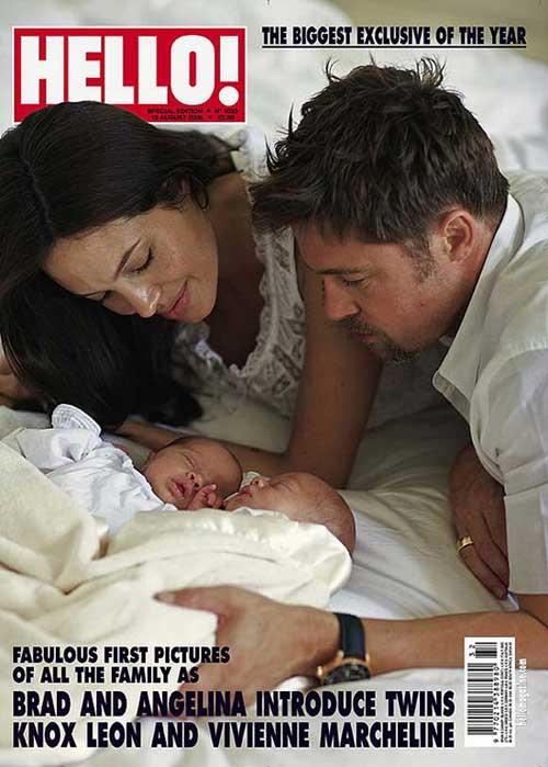 两人的龙凤胎宝宝首度曝光