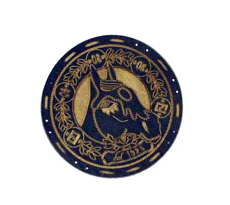 Fendi 为 Fendi Selleria Equestrian Bag 设计的徽章。