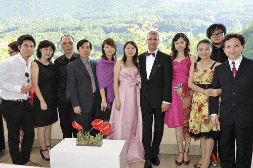 奥迪公司管理董事会主席施泰德先生热情欢迎来自中国的贵宾