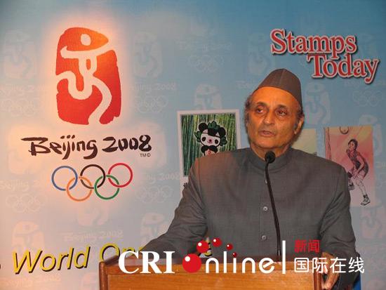 """印度文化关系委员会主席卡兰·辛格在""""北京2008奥林匹克文化节""""开幕上致辞"""