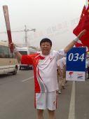 图文:昌平火炬手奥组委法律事务部副部长刘岩