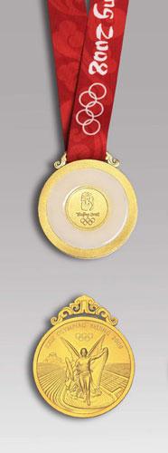 北京奥运会金牌样式