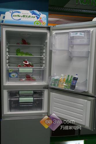 低价三开门 容声212升冰箱卖场促销