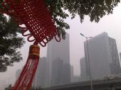 组图:中国元素装点CBD 迎接北京奥运会开幕