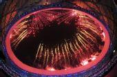 图文:第29届奥运会隆重开幕 精彩焰火的表演秀