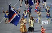 图文:北京奥运会运动员入场式 马绍尔群岛入场