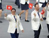 图文:北京奥运会运动员入场式 香港奥运代表团