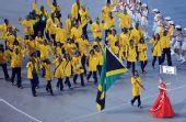 图文:北京奥运会开幕式入场式 牙买加运动员