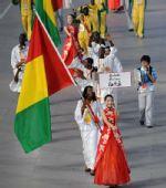 图文:北京奥运会运动员入场式 几内亚奥运代表