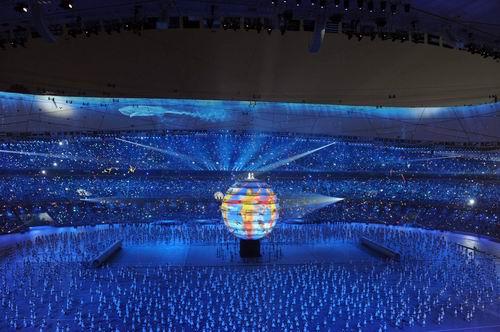 图文:开幕式梦想 刘欢莎拉布莱曼主唱8