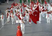 图文:北京奥运会运动员入场式 土耳其奥运代表