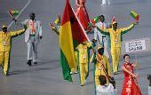 图文:北京奥运会运动员入场式 几内亚比绍入场