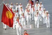 图文:北京奥运运动员入场 吉尔吉斯斯坦代表团