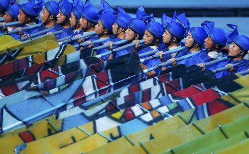 图文:北京奥运开幕式 丝路演出夺人眼球6