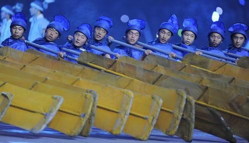 图文:北京奥运开幕式 丝路演出夺人眼球1