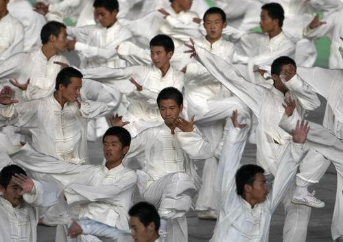 图文:北京奥运会开幕式 太极拳刚柔并济1