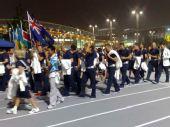 图文:北京奥运会开幕式 各国代表团准备入场