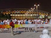 图文:北京奥运会开幕式 各国运动员准备入场