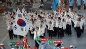 图文:北京奥运会运动员入场式 韩国奥运代表团