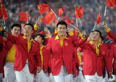 图文:北京奥运会运动员入场式 中国代表团入场