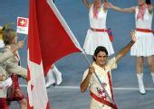 图文:北京奥运会运动员入场式 瑞士奥运代表团