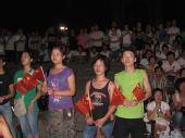 武汉:上万市民齐聚武昌洪山广场看奥运开幕式
