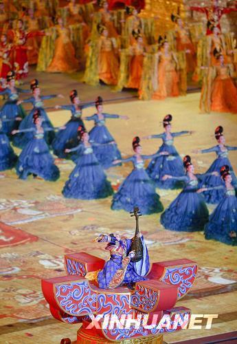 8月8日晚8时,第29届夏季奥林匹克运动会开幕。这是开幕式上的大型文艺表演《美丽的奥林匹克》。新华社记者邢广利摄