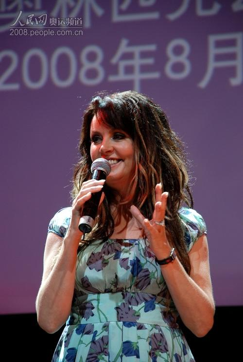 布莱曼在2008北京奥运会主题歌MV发布暨无线音乐首发仪式现场上