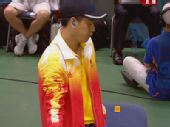 图文:男子十米气手枪庞伟一路领先射落金牌