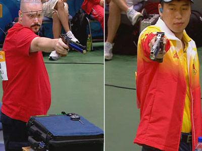 图文:男子十米气手枪庞伟一路领先射落金牌 1  3
