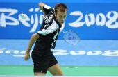 图文:羽毛球男单比赛开赛 德国选手茨维布勒