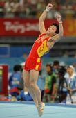 图文:中国男子团体资格赛 动作标准力量充分