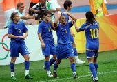 图文:巴西VS新西兰 击掌庆祝