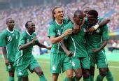 图文:尼日利亚VS日本 庆祝进球