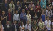 图文:美国总统布什观看中美男篮比赛